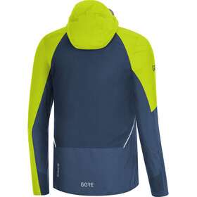 GORE WEAR R7 Partial Gore-Tex Infinium Chaqueta con capucha Hombre, deep water blue/citrus green